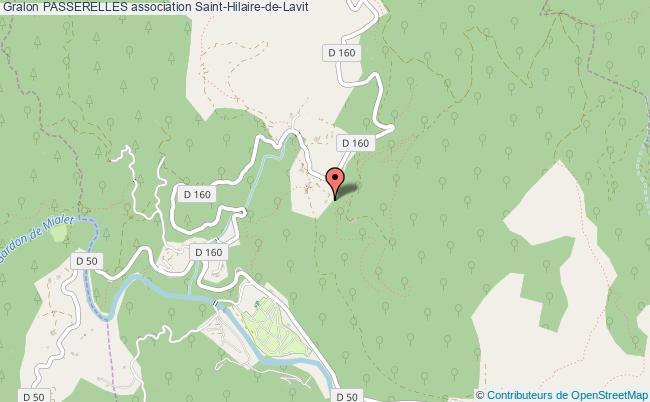 plan association Passerelles Saint-Hilaire-de-Lavit