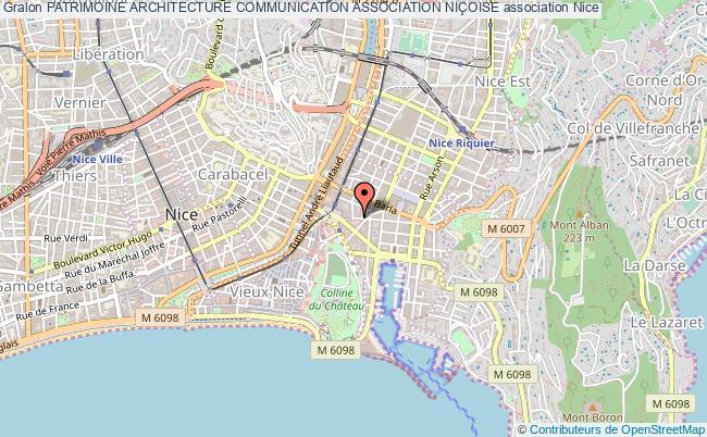 plan association Patrimoine Architecture Communication Association NiÇoise Nice