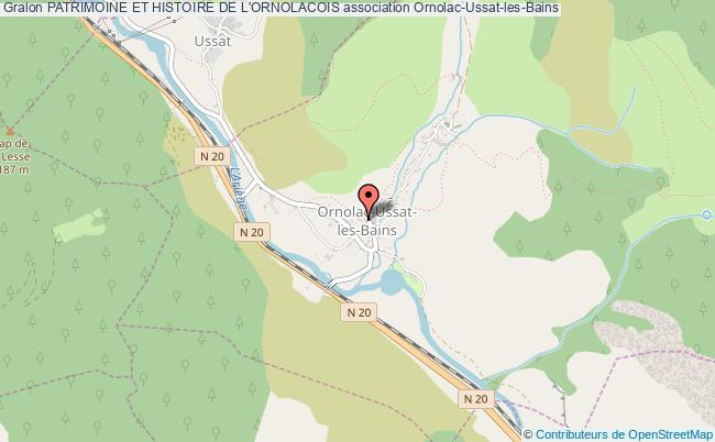 plan association Patrimoine Et Histoire De L'ornolacois Ornolac-Ussat-les-Bains