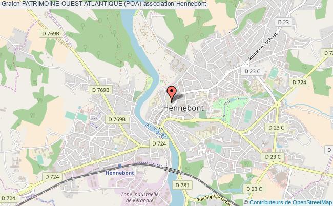 plan association Patrimoine Ouest Atlantique (poa) Hennebont