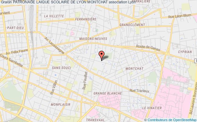 plan association Patronage Laique Scolaire De Lyon Montchat