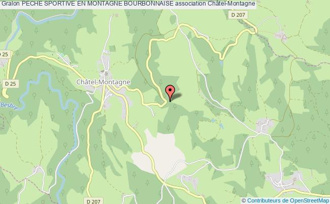 plan association Peche Sportive En Montagne Bourbonnaise Châtel-Montagne