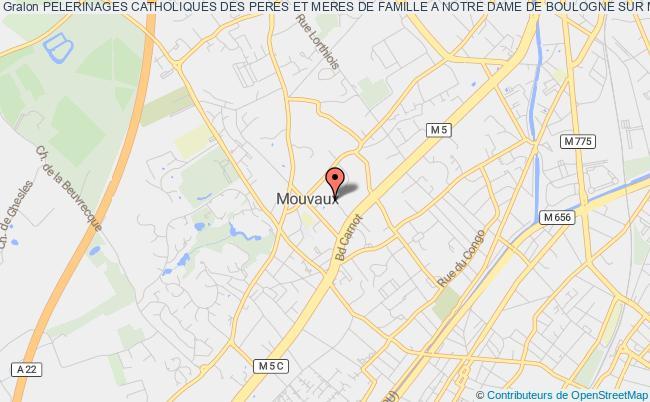 plan association Pelerinages Catholiques Des Peres Et Meres De Famille A Notre Dame De Boulogne Sur Mer
