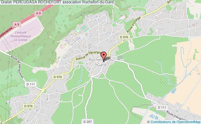 plan association Percugaga Rochefort Rochefort-du-Gard