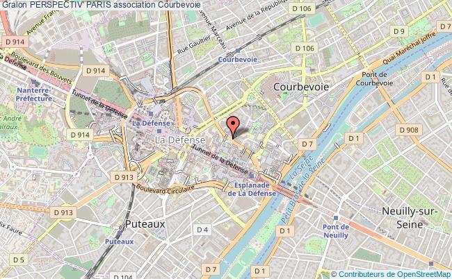 plan association Perspectiv' Paris Courbevoie
