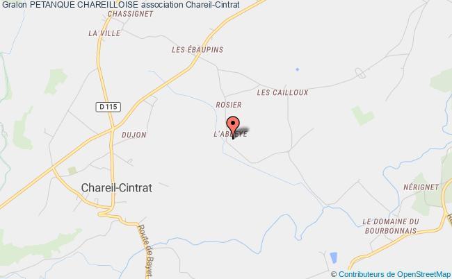 plan association Petanque Chareilloise Chareil-Cintrat