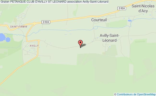 plan association Petanque Club D'avilly St Leonard Avilly-Saint-Léonard