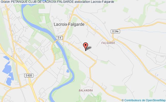 plan association Petanque Club De Lacroix-falgarde
