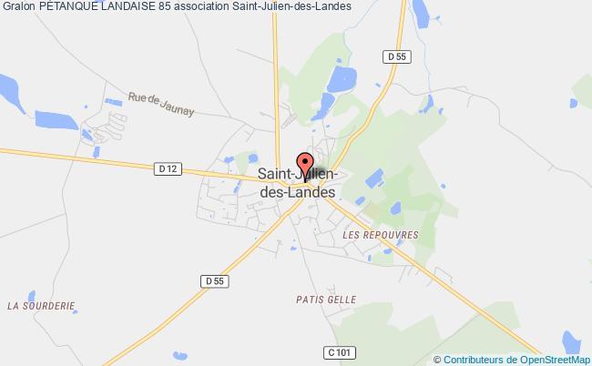 plan association PÉtanque Landaise 85 Saint-Julien-des-Landes