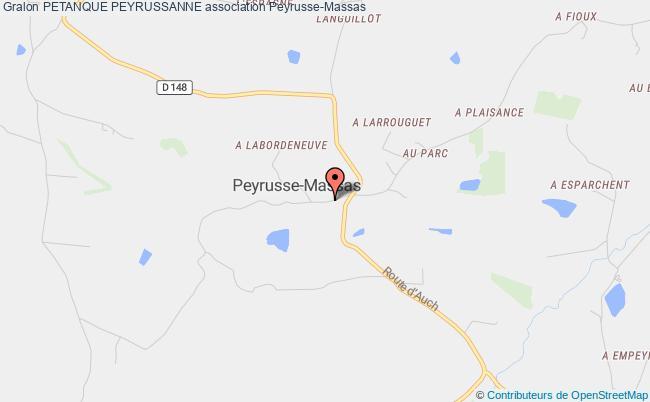 plan association Petanque Peyrussanne Peyrusse-Massas