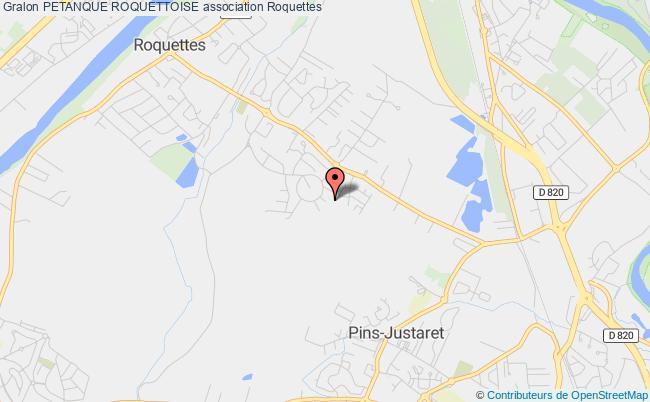 plan association Petanque Roquettoise