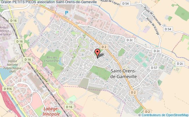 plan association Petits Pieds Saint-Orens-de-Gameville