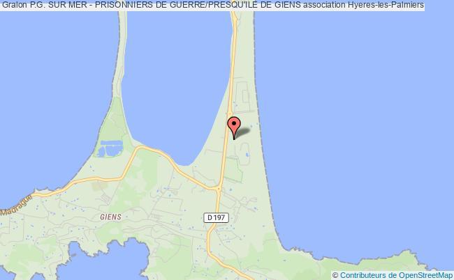 Plan Association P.g. Sur Mer   Prisonniers De Guerre/presquu0027ile De Giens  Hyères