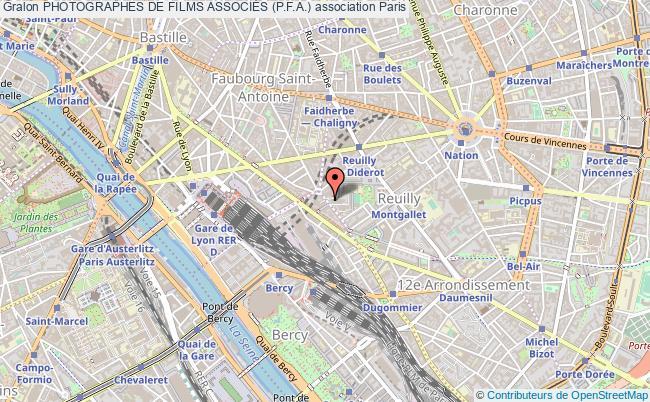 plan association Photographes De Films AssociÉs (p.f.a.) Paris