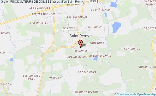 plan association Pisciculteurs De Dombes Saint-Rémy