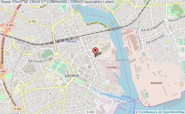 plan association Point De Croix Et Compagnie L'oriant
