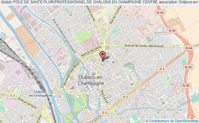 plan association PÔle De SantÉ Pluriprofessionnel De ChÂlons En Champagne Centre