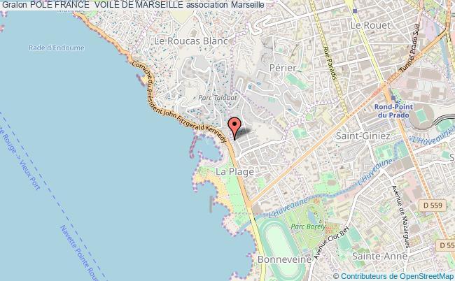 plan association Pole France  Voile De Marseille