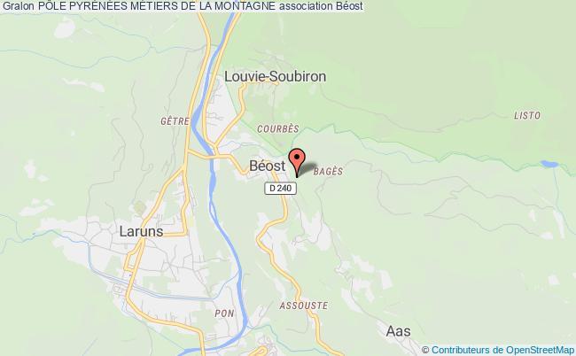 plan association PÔle PyrÉnÉes MÉtiers De La Montagne Béost