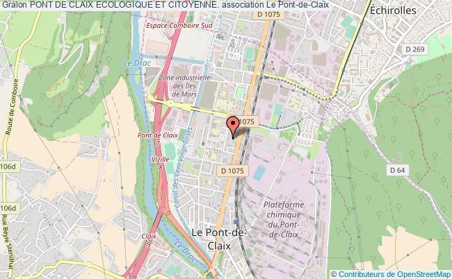 plan association Pont De Claix Ecologique Et Citoyenne. Pont-de-Claix