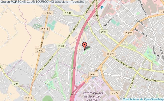 plan association Porsche Club Tourcoing Tourcoing