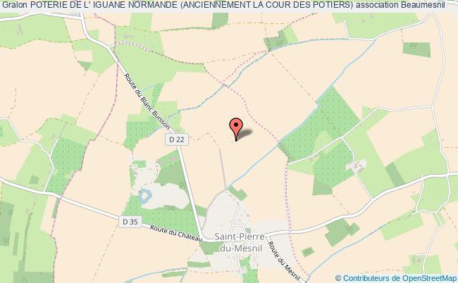 plan association Poterie De L' Iguane Normande (anciennement La Cour Des Potiers)