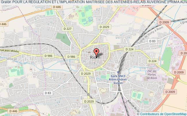plan association Pour La Regulation Et L'implantation Maitrisee Des Antennes-relais Auvergne (prima Auvergne)