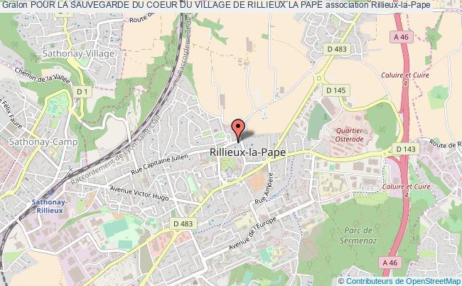 plan association Pour La Sauvegarde Du Coeur Du Village De Rillieux La Pape