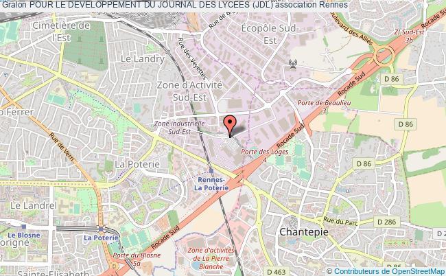 plan association Pour Le Developpement Du Journal Des Lycees (jdl) Rennes