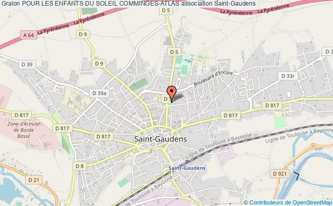 plan association Pour Les Enfants Du Soleil Comminges-atlas Saint-Gaudens
