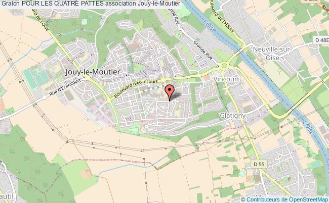plan association Pour Les Quatre Pattes Jouy-le-Moutier