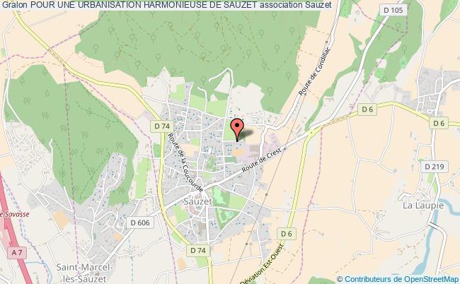 plan association Pour Une Urbanisation Harmonieuse De Sauzet Sauzet