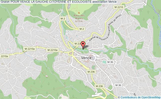 plan association Pour Vence La Gauche Citoyenne Et Ecologiste