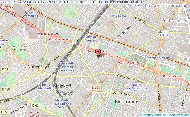 plan association Pps Association Sportive Et Culturelle De Paris Malakoff