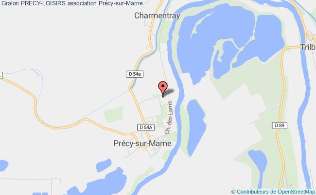 plan association Precy-loisirs Précy-sur-Marne