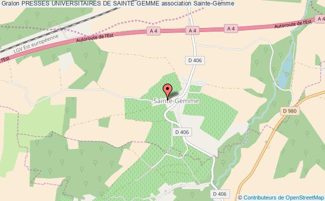 plan association Presses Universitaires De Sainte Gemme