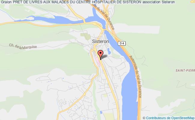 plan association Pret De Livres Aux Malades Du Centre Hospitalier De Sisteron