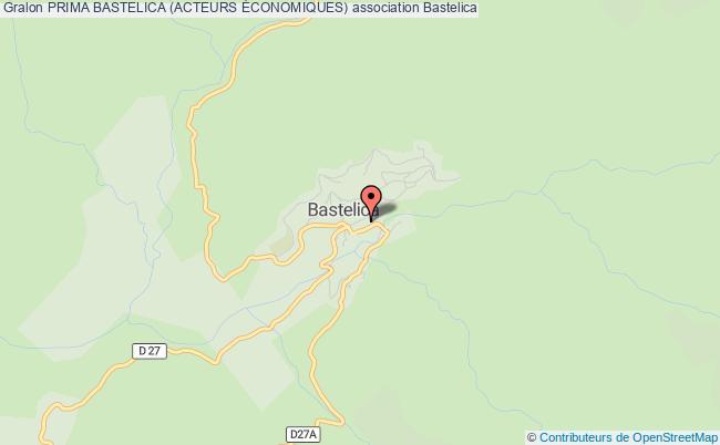 plan association Prima Bastelica (acteurs Économiques)