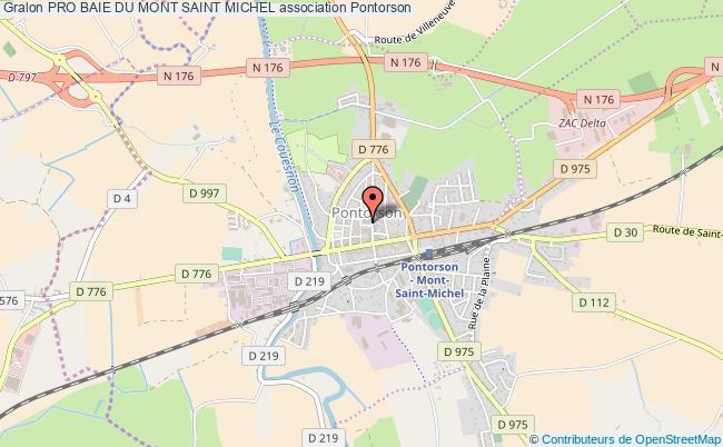plan association Pro Baie Du Mont Saint Michel Pontorson