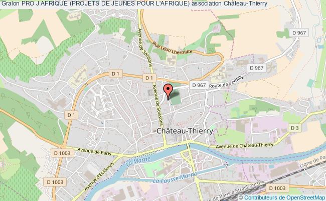plan association Pro J Afrique (projets De Jeunes Pour L'afrique) Château-Thierry