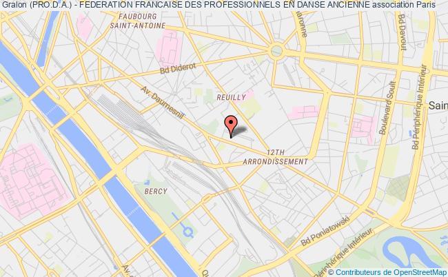 plan association (pro.d.a.) - Federation Francaise Des Professionnels En Danse Ancienne