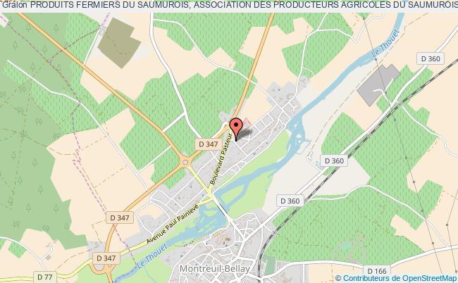 plan association Produits Fermiers Du Saumurois, Association Des Producteurs Agricoles Du Saumurois