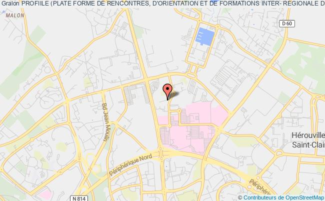 plan association Profiile (plate Forme De Rencontres, D'orientation Et De Formations Inter- Regionale De L'impression Du Livre Et De L'edition) Caen
