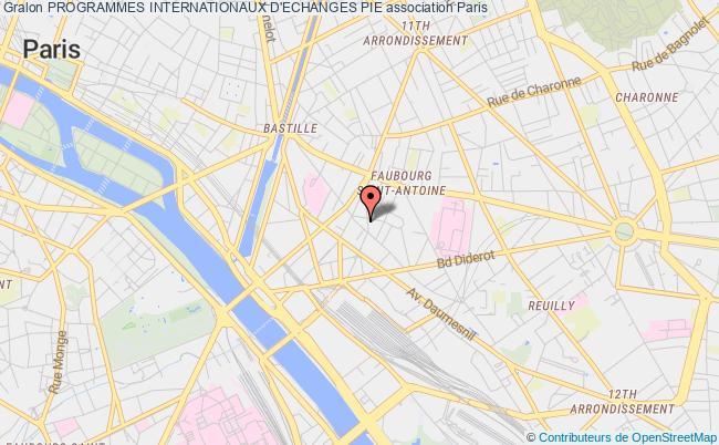 plan association Programmes Internationaux D'echanges Pie Paris