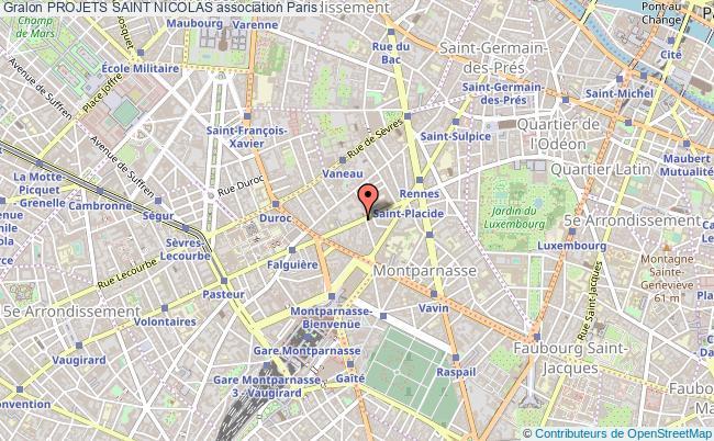 plan association Projets Saint Nicolas Paris 6e