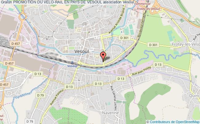 plan association Promotion Du Velo-rail En Pays De Vesoul Vesoul