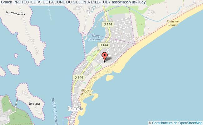 plan association Protecteurs De La Dune Du Sillon À L'ile-tudy
