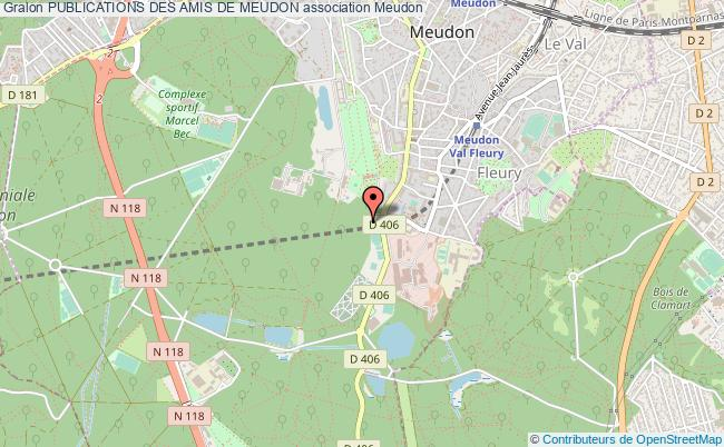 plan association Publications Des Amis De Meudon