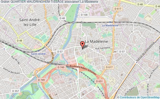 plan association Quartier Waudringhem-tissage La Madeleine