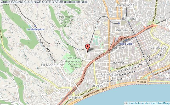 plan association Racing Club Nice Cote D'azur Nice